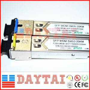 1.25 G Wdm 1310nm SFP Module Sm Sc Sf 20km pictures & photos