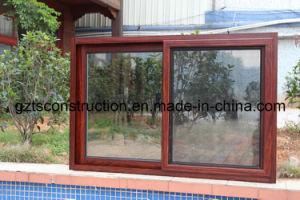 Double Glazing Aluminium Sliding Window with Flyscreen pictures & photos