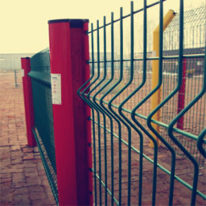 Green PVC Coated Welded 3D Curved Fence pictures & photos