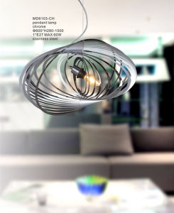 Special Design E27 Stainless Steel Pendant Lamp Decoration (MD6103-CH) pictures & photos