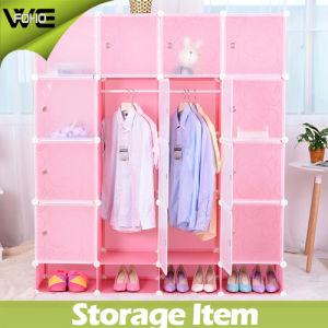 Fashionable PP Plastic Environment Friendly Material Storage Wardrobe Closet