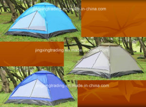 100% Polyester Waterproof Camp Tent for 4 Persons (JX-CT018) pictures & photos