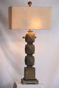 Concrete and Slate Table Lamp for Indoor or Outdoor pictures & photos