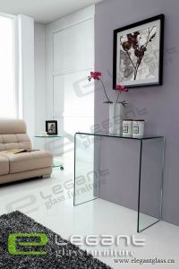 2013 Stainless Steel Console Table/Tempered Glass Shelf -S110 pictures & photos