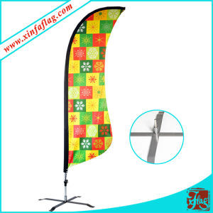 Advertising Telescopic Teardrop Beach Flag Pole Base pictures & photos