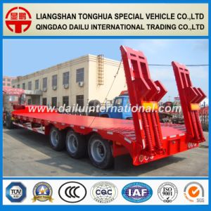 3-Axle Lowbed/Lowboy Utility Semi Trailer with Packing Show pictures & photos