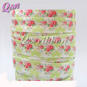 5/8 Custom Fold Over Elastic Flower Foe