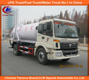 Heavy Duty 4X2 8000L Foton Vacuum Sewage/Fecal Suction Truck pictures & photos