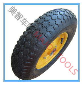 16 Inch Trolley Barrow Pneumatic Rubber Wheel Tire 4.00-8 pictures & photos