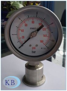 Diaphagm Pressure Gauge Stainless Steel pictures & photos