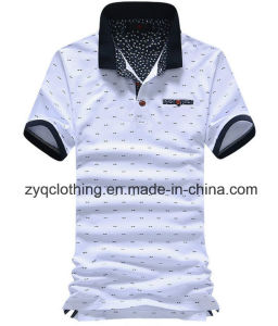 Wholesale Cotton Printing Fashion Polo T-Shirt for Men pictures & photos