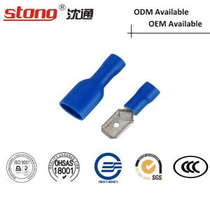 Mdd Series Pre-Insulating Terminal Brass Male Electric Spade Terminal pictures & photos