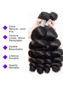 Virgin Hair Loose Wave Bundles Hair Extension Unprocessed Loose Wave Virgin Hair Human Hair Weave pictures & photos