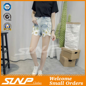 Women Clothes Embroidery Fashion Denim Short Costume