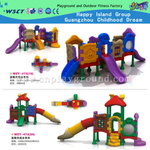Kids Outdoor Plastic Toys Slide Playground for Sale (HD-W-483) pictures & photos