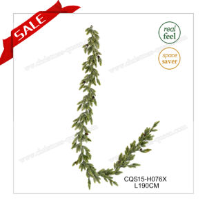 6FT Unlit Artificial Flower Christmas Garland Plastic Christmas Decorations Crafts pictures & photos