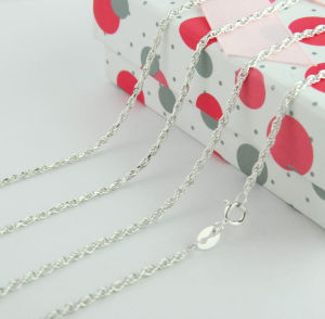 925 Sterling Silver Chain Jewelry, Double Cable Chain Necklace pictures & photos
