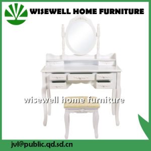 Wood Dressing Table with Mirror and Stool (W-HY-006) pictures & photos
