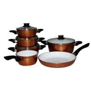 Ceramic Non-Stick Aluminium Pan /Alumium Pot Cookware Set pictures & photos