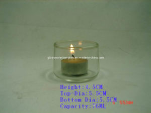 Clear Glass Candle Holders (ZT-33) pictures & photos