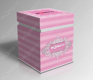 Pink Paperboard+Embossed Perfume Box for Gift Packaging (HYP013) pictures & photos