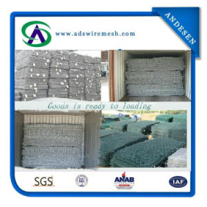1X1X1m 2.7mm Galvanized Then PVC Coated Gabion Mesh pictures & photos