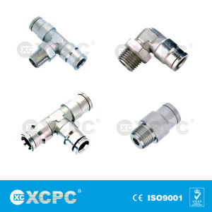 Push in Metal Pneumatic Pipe Fitting pictures & photos