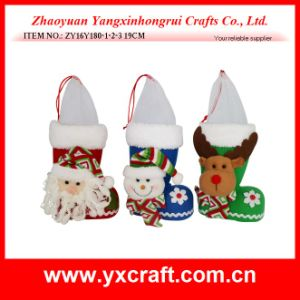 Christmas Decoration (ZY16Y180-1-2-3 19CM) Kid Santa Candy Boot Christmas Beads pictures & photos