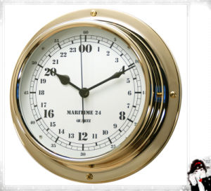 24 Hour Brass Case Military Time Clock Dial 180mm pictures & photos