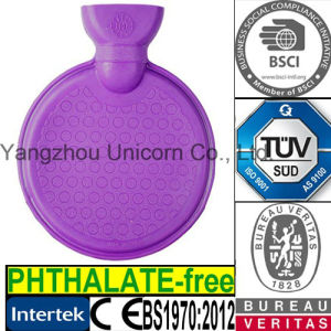 BS Round Circle Shape Rubber Hot Water Bottle pictures & photos