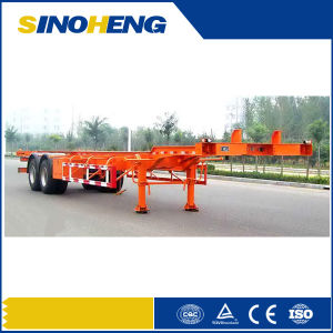 China 3 Axles Flat Bed 40ft Container Trailer pictures & photos