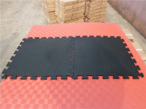 Anti-Slip Non-Toxic Interlocking Gym Floor Matting, Interlocking Exercise Mat pictures & photos