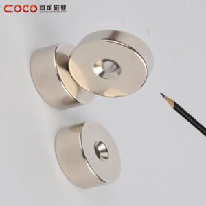 Sintered NdFeB Permanent Magnet Sink Hole for DC Motor /Servo Motor / Electronic Component pictures & photos