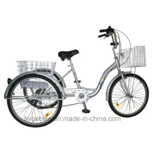 "24"" Shopping Trike Aluminum Alloy Frame Cargo Tricycle (FP-TRI-10) pictures & photos"