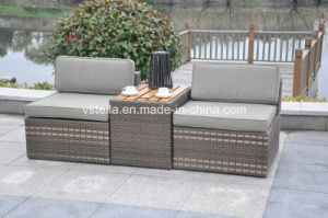 3-Piece Outdoor Stacking Rattan Patio Wicker Set pictures & photos