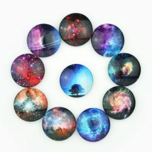 Round Shape Cheap Custom Night-Sky Epoxy Fridge Magnet pictures & photos