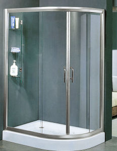 4mm 5mm 6mm Flat Toughened/Tempered Shower Glass Door pictures & photos
