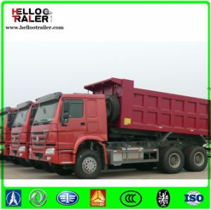 Left Hand Driving Gray Color 336HP Euro II Tipper Dump Truck for Sale pictures & photos