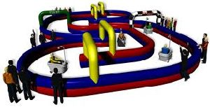 Good Price Inflatable Race Track Inflatable Race Game Js1224-2 pictures & photos