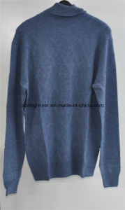 Wool Cashmere Men Turtleneck Knit Pullover Sweater pictures & photos