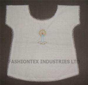 Wholesale High Quality White Cotton Baby Baptismal Bib pictures & photos