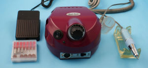 Professional Electric Nail Drill (dark red)
