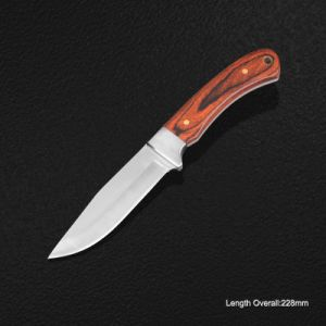 Fixed-Blade Knife with Wooden Handle (#3909) pictures & photos