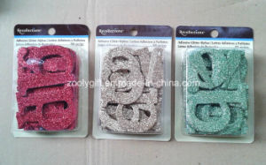 Adhesive Glitter Alpha / Die-Cut Glitter Letters Paper Decorative Embellishment pictures & photos