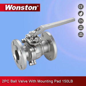 2PC Ball Valve Flanged End with Mounting Pad pictures & photos
