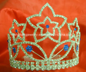 Rhinestone Pageant Tiara, Pageant Crown H-38058, Wedding Tiara, Bridal Tiara, Princess Tiara