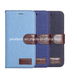 Jeans Leather Case for iPhone 6 Plus pictures & photos