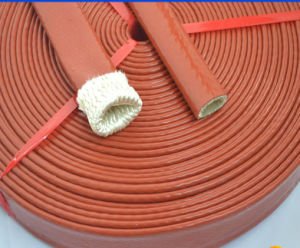 High Temperature Silicone Coated Fiberglass Fire Sleeve pictures & photos