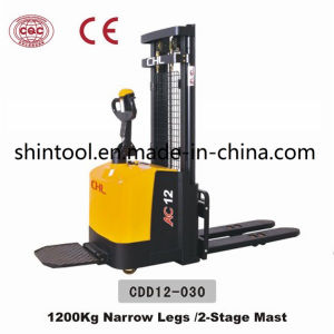 1.2t Electric Pallet Stacker Cdd12-030 Battery Stacker pictures & photos
