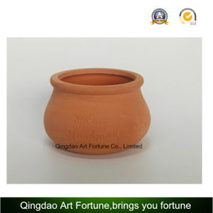 Outdoor-Natural Candle Holder-Clay Ceramic Pot Bulge Shape pictures & photos